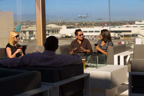Star Alliance lounge in LAX – Roof terrace