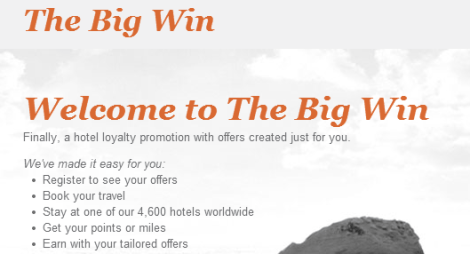IHG The Big Win Promo
