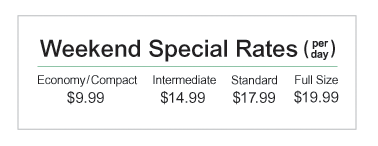 Enterprise $9.99 Weekend Rental Deal - Double Upgrade Link
