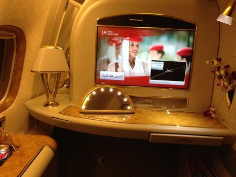 Emirates First Class DXB - Malé (MLE) B777-200LR07