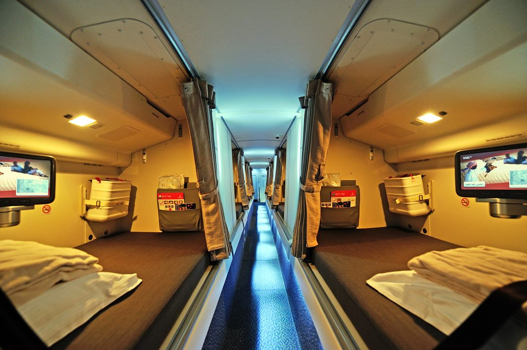 Inside An Emirates B777 Crew Rest Compartment Pretty