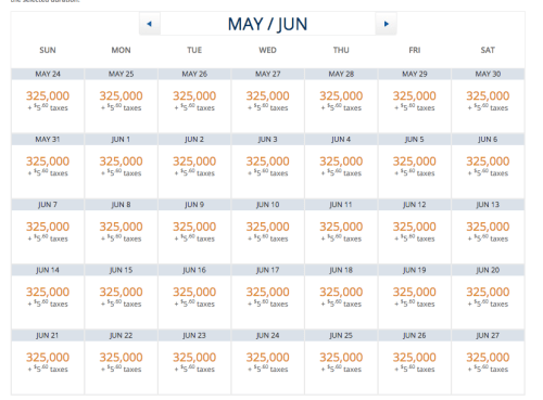 Delta Award Availability May-June