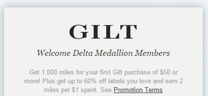 GILT Delta Promo