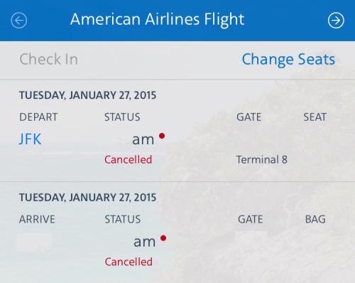 AA Cancelled Flight