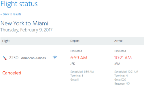 It Worked...AA Award Flight Redeposited Fee Free After Blizzard Date Switch
