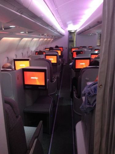 Iberia Flight Review A330-300 Business Class62