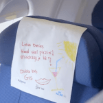 KLM Seatback Personal Greeting Message