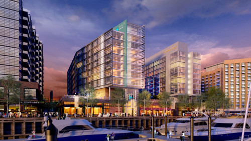 Wharf Canopy and Hyatt House rendering
