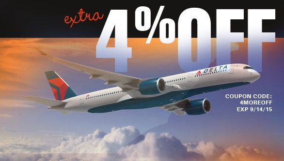 8.5% Discount on Delta Airlines Fares! Plus savings on more
