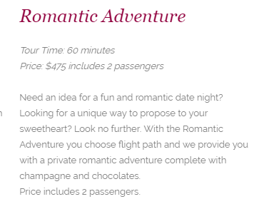 Flamingo Air Romantic Adventure