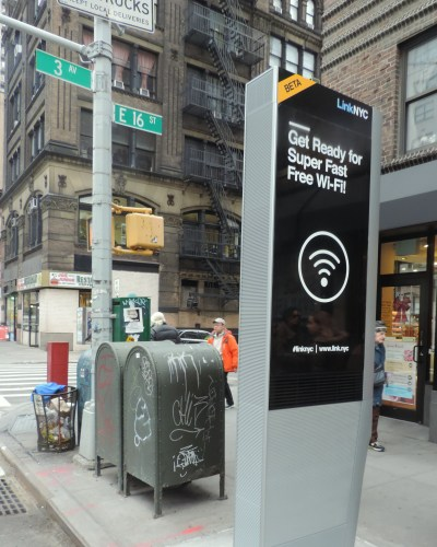 A Link Kiosk in New York City link nyc