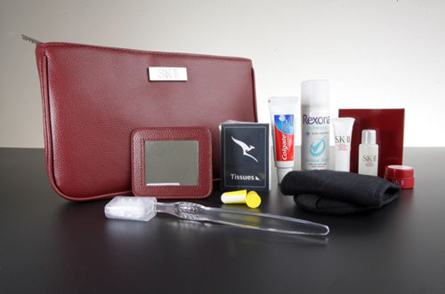 Current Qantas First Class A380 Women's Amenity Kit