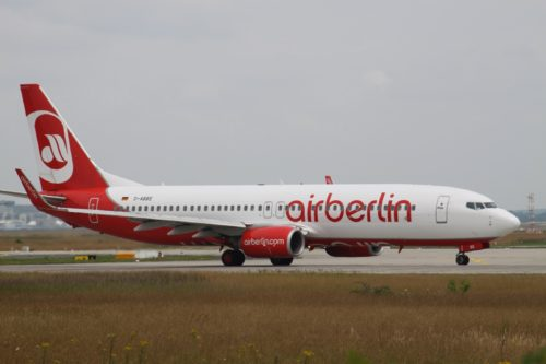AirBerlin Boeing 737 D-ABBE, currently the Hillary Clinton campaign plane