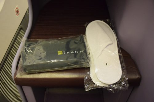 Thai Airways 777 Business Class slippers amenity kit