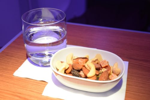 Thai Airways 777 Business Class nuts and dried fruit