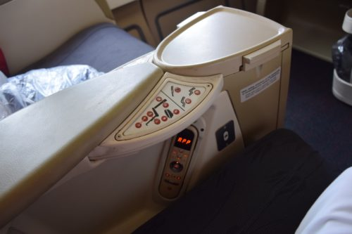 "Turkish Airlines ""Old"" Business Class - Seat Controls"