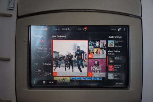 "Turkish Airlines ""Old"" Business Class - In-flight Entertainment"