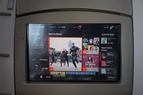"""Turkish Airlines """"Old"""" Business Class - In-flight Entertainment"""