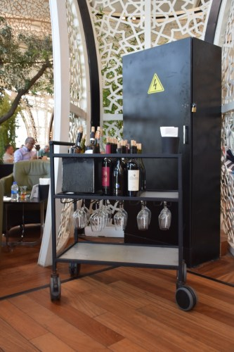 Turkish Airlines CIP Lounge - Wine Cart