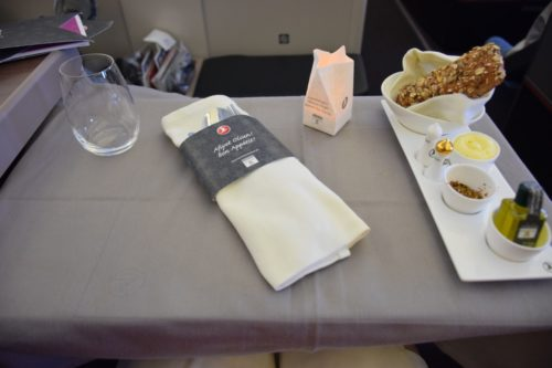 Turkish Airlines Business Class A330 - Candlelight Dinner