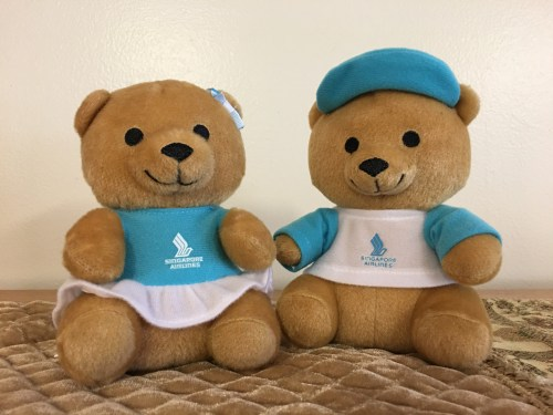 Singapore Airlines Teddy Bears