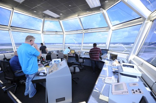 Pope Field Air Traffic Control Tower. Photo by Albert Herring, used with permission.