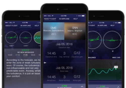 SkyGuru is an app that provides real-time explanation to aircraft movements and unusual sounds