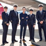 New Qantas uniforms designed by Martin Short. Source: Qantas