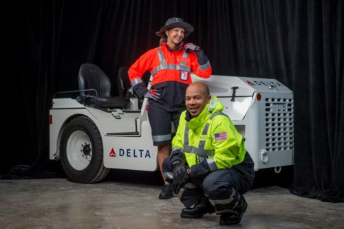 Delta's new uniform by Zac Posen for ramp and cargo