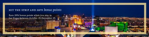 Earn 20% bonus Hyatt points at Las Vegas properties