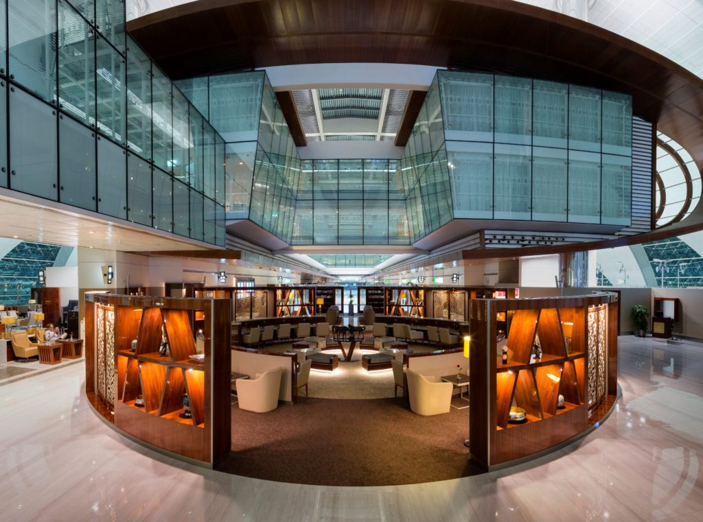Renovated Emirates Business Class Lounge Dubai Concourse B