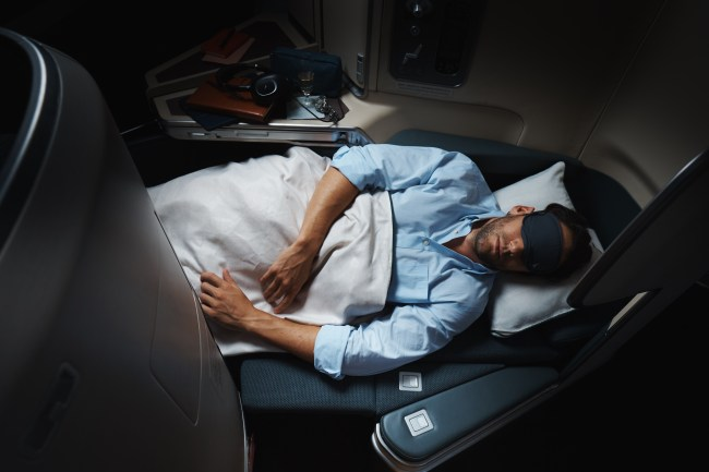 Cathay Pacific Business Class on A350. Photo courtesy of Cathay Pacific.