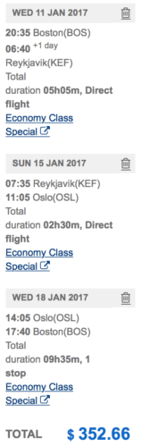 Visit Reykjavik AND Oslo from Boston for ~$350!