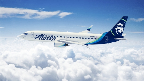 Alaska Airlines aircraft in the new livery