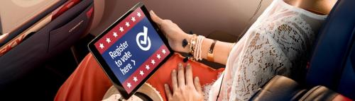 Delta will allow you to register to vote in-flight for free