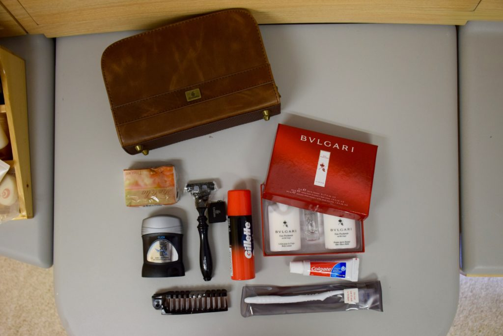 Emirates First Class A380 Amenity Kit Content