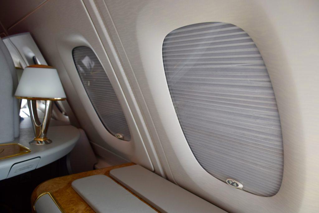 Emirates First Class A380 Windows
