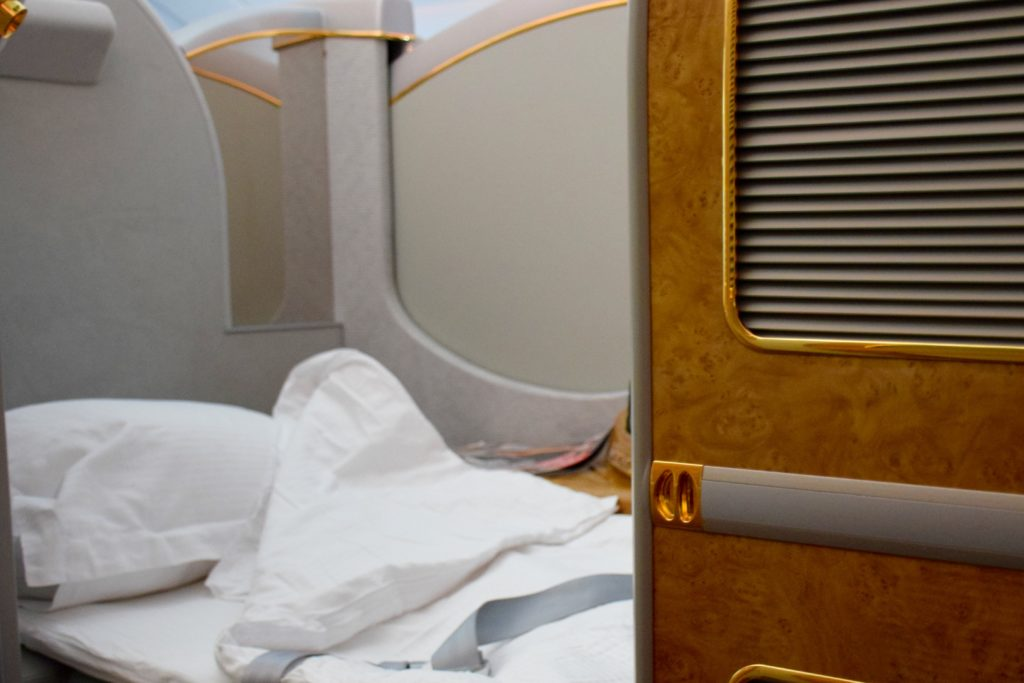 Emirates First Class A380 Bed