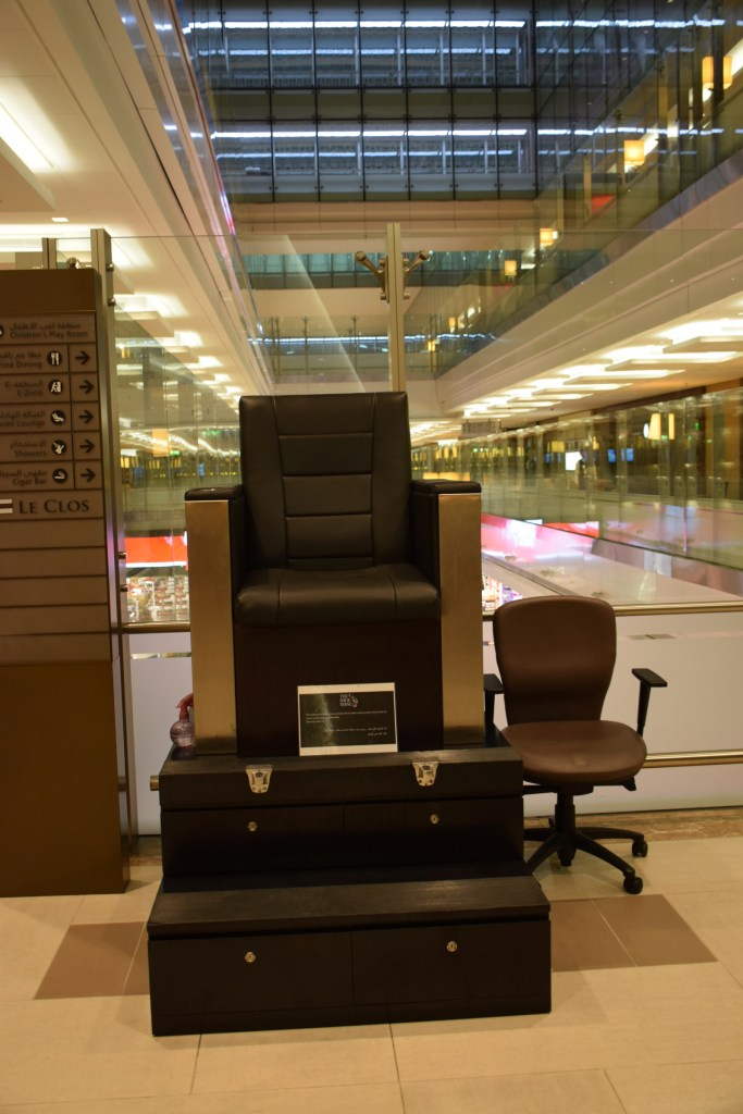 Emirates First Class Lounge Dubai Concourse A - Shoe Shine Service