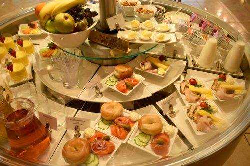 The Emirates Lounge JFK Cold Breakfast Options