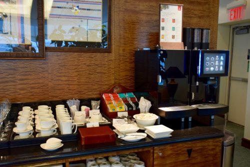 The Emirates Lounge JFK Coffee & Tea