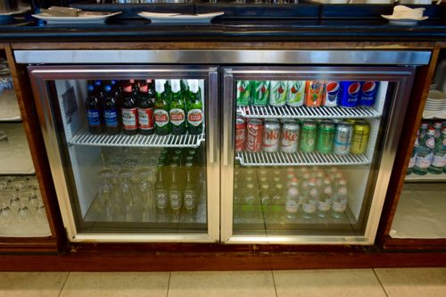 The Emirates Lounge JFK Soft Drinks and Beer