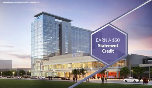 $50 Statement Credit With $500 Spend at Hyatt Regency in the US