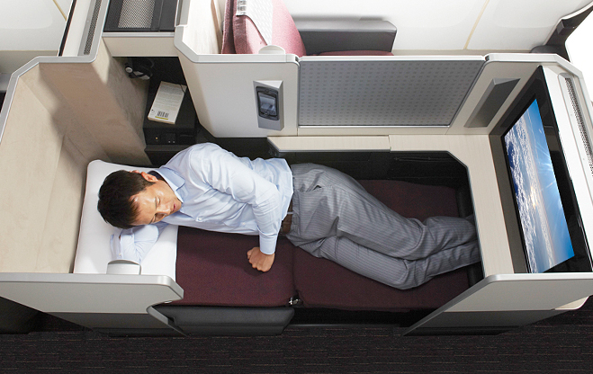 Japan Airlines (JAL) Business Class Seat. Source: JAL