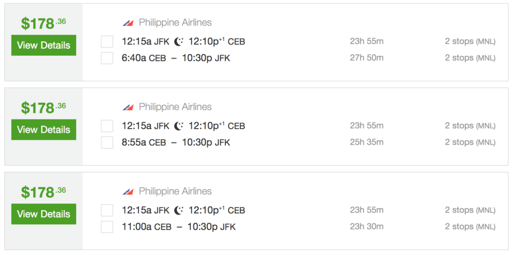 Fly from New York to Cebu for less than $180 roundtrip!