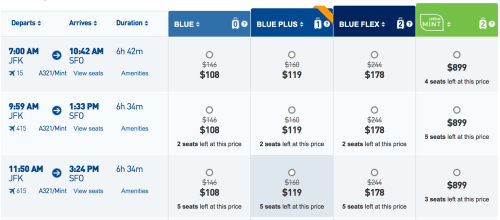 Fly from New York to San Francisco for ~$110 one-way