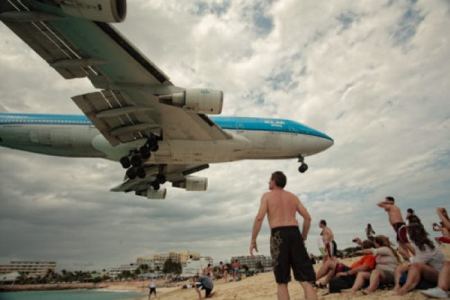 KLM 747 landing in St. Maarten. Photo by Aurimas/Flickr, used with permission.