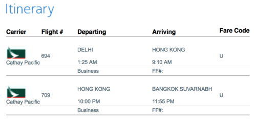 """American Airlines charged me 40,000 miles for the ticket between Delhi and Bangkok, despite the fact that it exceeded the purpoted """"rule"""" about MPM."""