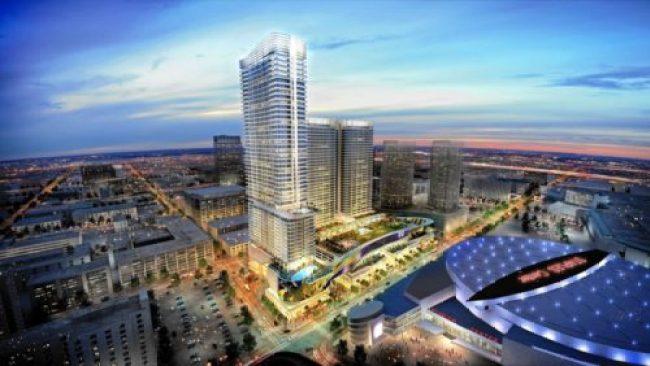 Rednering of Oceanwide Plaza by CallisonRTKL, the future home of Park Hyatt Los Angeles.