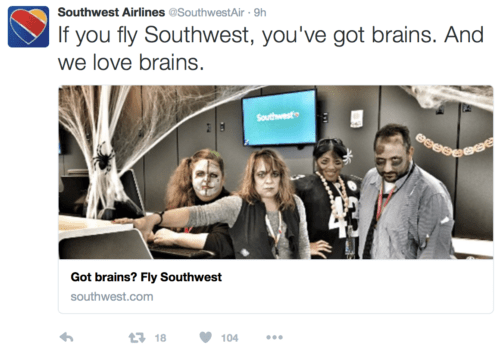 Southwest employees dressed up for Halloween. @SouthwestAir/Twitter